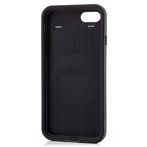 Coque iPhone 7 Housse + Verre Trempé Etui TPU Silicone Case Cover [zanasta Ultra Hybrid] avec Bumper une protection de bord supplémentaire Noir Noir-Gris