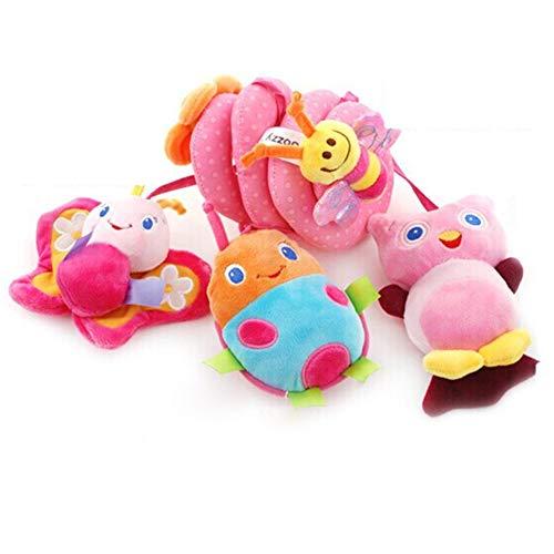 Ssowun Activity Spirale Baby,Activity-Spirale Stoff-Spirale Zum Greifen für Kinderwagen Babys 0-24 Monaten EINWEG verpackung -