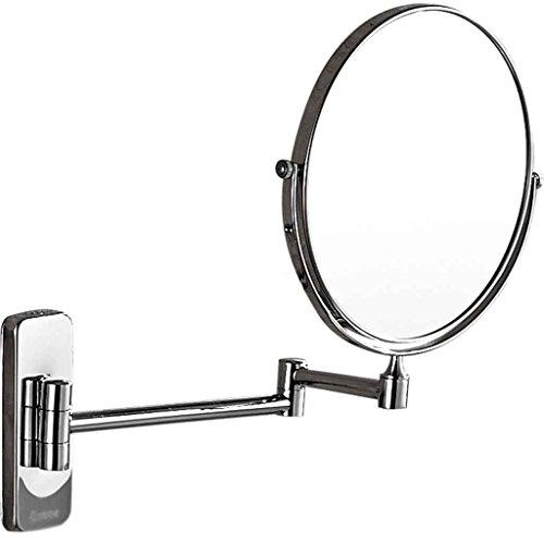 Miroirs Salle de Bains Hôtel Salle de Bains Mural Pliant Double Face Zoom Rétractable cosmétique de Rasage Huit Pouces 3 Fois grossissement Rotation 360 degrés Double Face de maqu