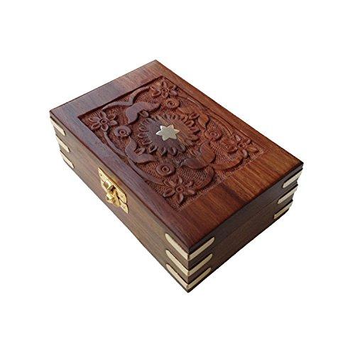 Zeitgenössische Holz-schmuck-kästen (Royal Kraft Zeitgenössisch Handgefertigt Messing Gravierte Rechteckig Hölzern Schmuck Boxen)