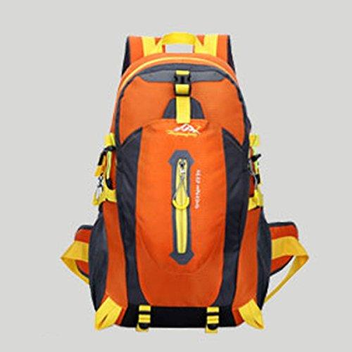 LQABW Alpinismo Outdoor Spalla Uomini Donne Impermeabile Pacchetto Di Svago Di Grande Capienza 65L Borsa Da Viaggio Zaino 40L,Green Orange