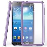 moex Samsung Galaxy S4 Active | Hülle Slim Transparent Lila Impact Back-Cover Dünn Schutzhülle Silikon Handy-Hülle für Samsung Galaxy S4 Active Case TPU Tasche Matt