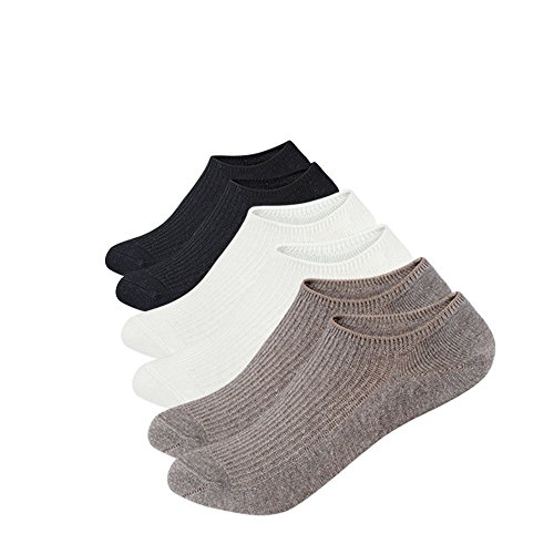 Damen 100% Baumwolle Kurze (Anliceform Sneaker Socken, Damen tief geschnittene Baumwollsocken unsichtbare Socken, 3 Paar Knöchel Antirutsch Athletic kurze Baumwoll Socken)