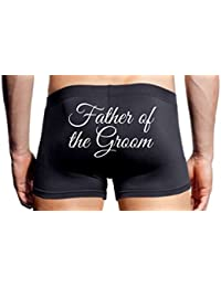 Wedding Day Boxers Father of the Groom Black