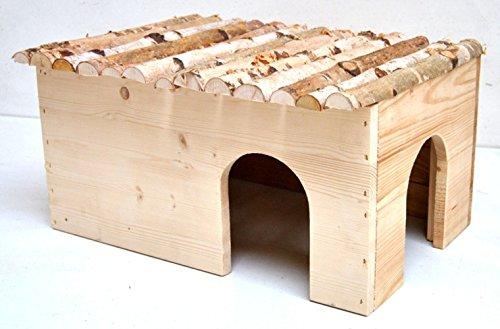Ollesch XXL Nagerhaus für Meerschweinchen und Kaninchen 50 × 25 × 33cm