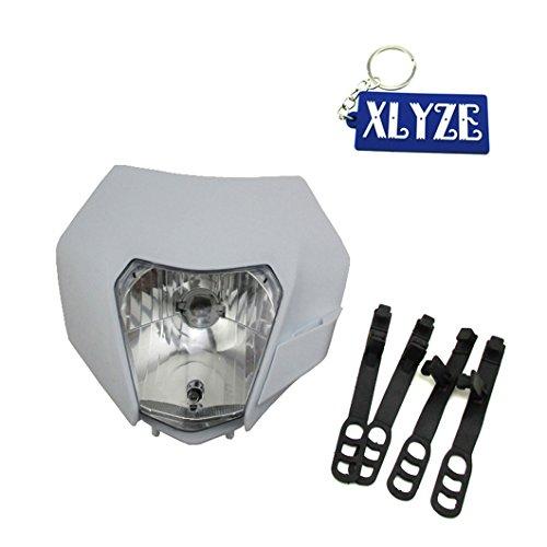 xlyze 12V VORNE Licht Scheinwerfer Head Light weiß für Motorrad Honda KTM Suzuki Kawasaki Yamaha ATV Pit Dirt Quad MOTOR BIKE