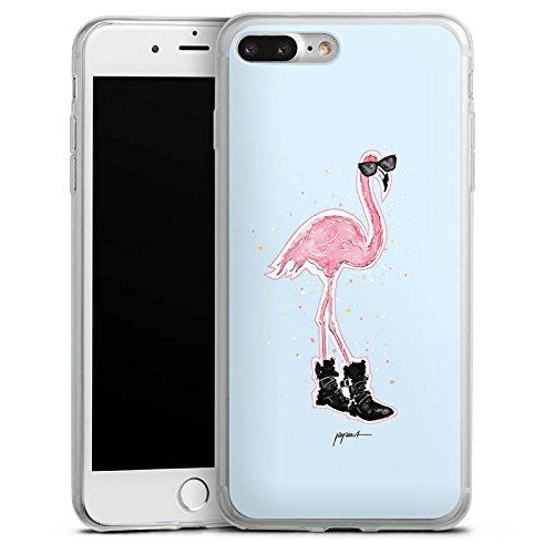 Apple iPhone X Slim Case Silikon Hülle Schutzhülle Flamingo Cool Sonnenbrille Silikon Slim Case transparent