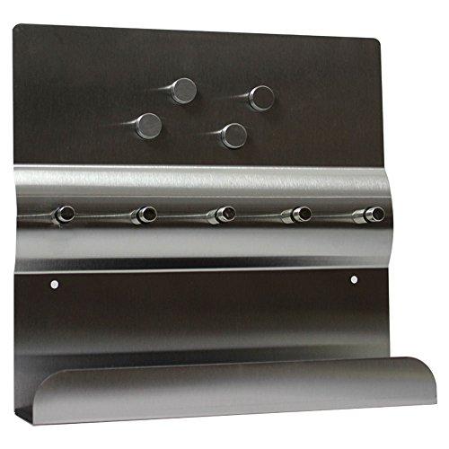 COM-FOUR Listello portachiavi in acciaio inox, con