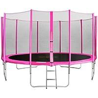 SixBros. SixJump 4,30 M Gartentrampolin Pink Intertek / GS geprüft Trampolin | Leiter | Sicherheitsnetz | Wetterplane - CST430/L1767