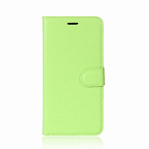 TopACE® Apple iPhone X Coque, [Card Slot Series] Housse Etui en PU cuir Avec Wallet UltraSlim pour Apple iPhone X (Vert) PU-Leather Case-Vert VII