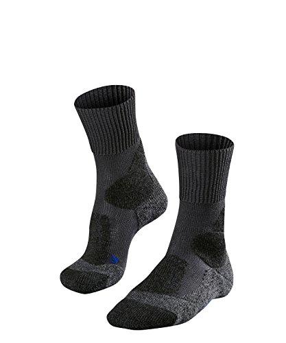 falke tk1 cool FALKE TK1 Cool Herren Trekkingsocken / Wandersocken - grau, Gr. 42-43, 1 Paar, kühlende Wirkung, extra starke Polsterung, feuchtigkeitsregulierend