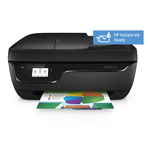 HP OfficeJet 3831   Impresora multifunción de tinta (Wi Fi  incluido 3 meses de HP Instant Ink  512 MB  600 x 300 DPI  1200 x 1200 DPI  A4  216 x 297 mm)  color blanco y negro