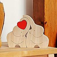 IK Style Loving Wooden Love Elephant Couple