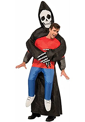 aufblasbares Sensenmann Oktoberfest Halloween gruselig Gruselige Skelett Tod Fancy Dress Blow Up Party Cosplay (Halloween Aufblasbare Kostüme)