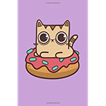 Fudo Cats: Donut Cat Journal Notebook Diary: 120 Lined, Wide Rule Pages
