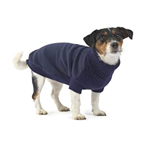 House of Paws Fleece and Knit Jumper, Small, Navy