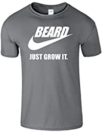 BEARD JUST GROW IT Herren-Hemd Lustiges Slogan-T-Shirt