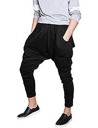 Allegra K Hommes Entrejambe Bas Danse Sport Jogging Baggy Hip Hop Pantalon Sarouel
