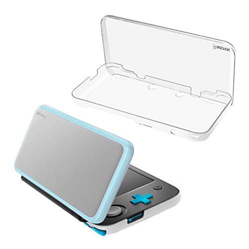 For Nintendo New 2DS XL Case, Insten Durable Hard Plastic Snap-in [Shock-Absorbing] [Drop-Resistance] Protective Crystal Clear Case Skin Cover compatible with Nintendo New 2DS XL , Clear Transparent Protective Snap