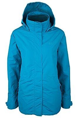 Mountain Warehouse Fell Womens 3 in 1 Jacket -Water Resistant All Season Coat, Adjustable Hood Ladies Jackets, Zipped Pockets, Packable Hood - Ideal Winter Raincoat