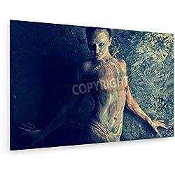 Andrey Kiselev - Gemalt mit Ton - 120x80 cm - Leinwandbild auf Keilrahmen - Wand-Bild - Kunst, Gemälde, Foto, Bild auf Leinwand - Menschen
