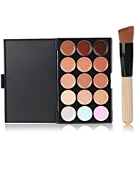 LEORX LEORX Gesicht Kontur Kit Highlighter Make-up Kit 15 Creme Concealer Farbpalette mit Pinsel