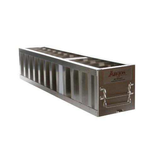 Vertikale Gefrierschrank Rack (Argos Edelstahl Brust Gefrierschrank Vertikal Rack für 5,1cm Boxen, 4 Box Capacity, 8-15/16