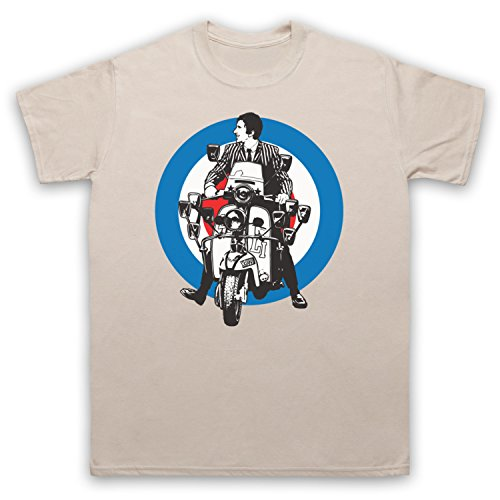Inspiriert durch Quadrophenia Jimmy Mod Logo Unofficial Herren T-Shirt Beige