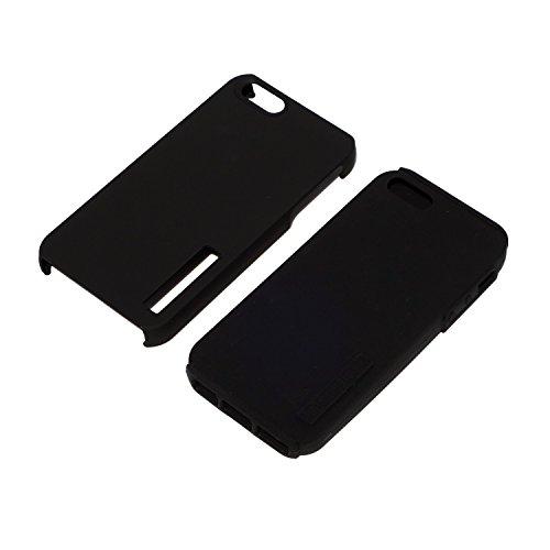 CUSTOM Black Incipio DualPro Case for Apple iPhone 5 / 5S - Black Orange Diagonal Stripes