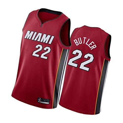 Herren Basketball Jersey - Jimmy Butler # 22 Miami Heat Basketball T-Shirt Sportswear Top Ärmellos V-Ausschnitt Besticktes Sweatshirt, Familie (S-XXL)-5-S