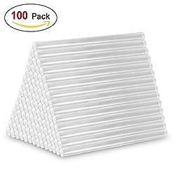 Heißklebestift, 100 Stück Klebesticks Heißklebesticks 7 mm x 100 mm für 20Watt Klebepistole
