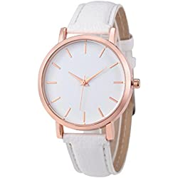 Rawdah 2017 Fashion Watches Leather Stainless Men women Steel Analog Quartz Wrist Watch White