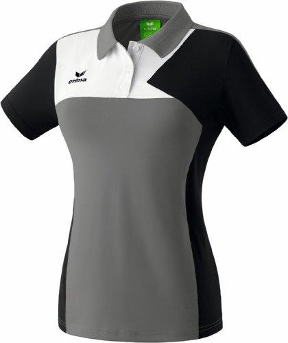 Erima Oberkörper-Bekleidung Premium One Poloshirt Women T-Shirts & Polos, Granit/Schwarz/Weiß, 38