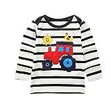 Yanhoo Kinderkleidung, Kindermode Herbst Winter Baby Jungen Dinosaurier Print/Streifen LKW Hemd Bluse T-Shirt Top Pullover Warme Baumwolle Sweatshirt
