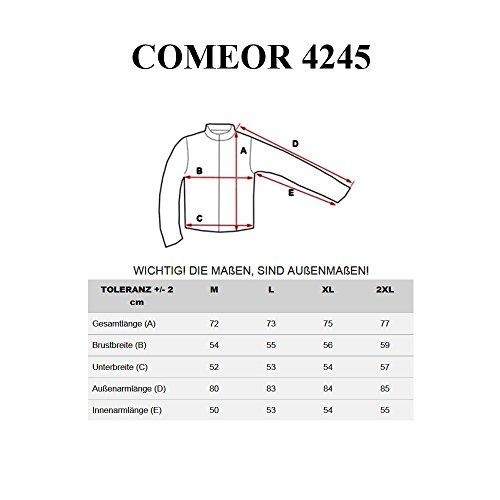 BOLF Pullover Langarmshirt Longsleeve Sweatjacke Motiv Herren Sweatshirt COMEOR 4245 Schwarz