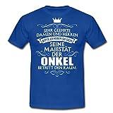 Spreadshirt Seine Majestät Der Onkel Spruch Männer T-Shirt, XL, Royalblau