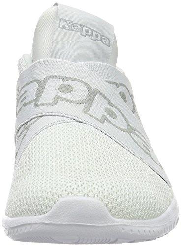 Kappa Faster Ii, Sneakers Basses Mixte Adulte Blanc (White/l'grey)