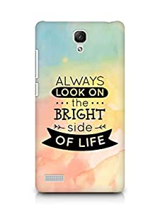 Amez Always look on the Bright Side of Life Back Cover For Xiaomi Redmi Note