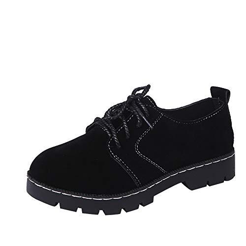 (Schuhe Damen Vintage, Sonnena Casual Flache Boden Plateau Knöchel Schuhe Boots Freizeitschuhe Frauen Herbst Schnürer Lederstiefel Mode Rund Toe Booties Bequem Stiefeletten Outdoor Stiefel)