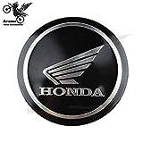 [Lot de 4] Hirondelle Bleue Autocollant Stickers 3D en métal diamètre 5,5cm Compatible avec Moto Scooter Honda CBR CBF Varadero, Produit expédié depuis la France