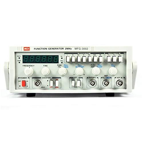 Duradero Función de baja frecuencia Generador de señal MFG-3002 Fuente de señal de 2MHz...