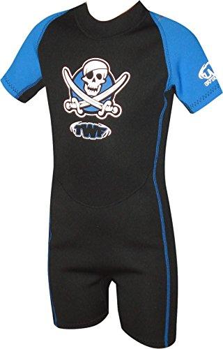 TWF kurzer Piraten-Neoprenanzug für Kinder - blau, 5-6 Jahre, K2