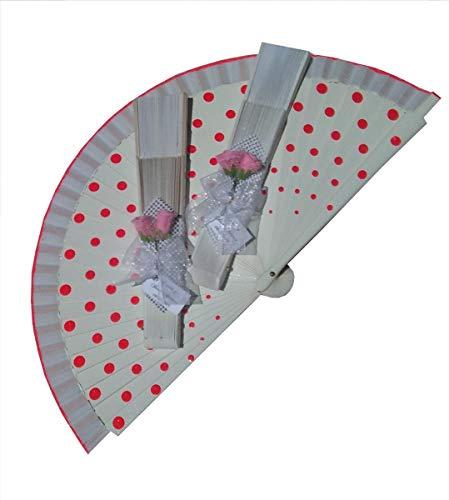 Arreglo de flores rosas para decorar abanicos 10 unidades
