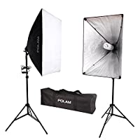 Description:      Le kit studio professionnel est facile à installer en minute, idéal pour le tir de portrait et de scène. Bon pour diffuser la lumière à partir de n'importe quelle lumière flash/stroboscopique et une lumière constante.   Cett...