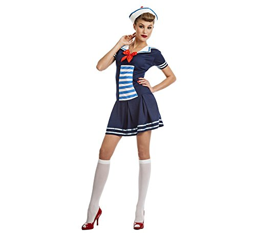 Disfraz de Marinera Pin-up para mujer