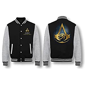 Assassin's Creed: Origins – Hieroglyphics Logo Herren College-Jacke – Schwarz