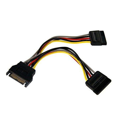Startech Pyo2Sata - Cable Adaptador (Sata 0,15 M, 2 X Hembra, Sata - 1 X Macho Sata)