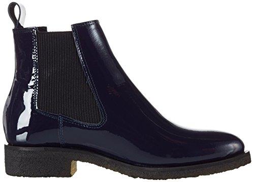 Shoe Biz Benita, Bottes Chelsea Femme Bleu (Patent Thunder)