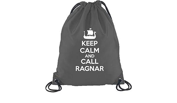 Keep Calm And Call Ragnar Vikings Turnbeutel Rucksack Sport Beutel