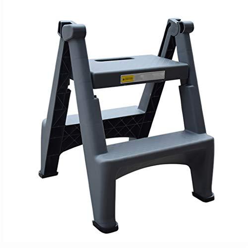 KJZ Plastikleiter, Haushalts-Auto-Wäsche-Leiter-Leiter mit faltbarem doppelseitiger Pedal-Größe 45 * 50 * 58CM (größe : 45 * 50 * 58CM)